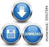 download icon  dark blue button ...