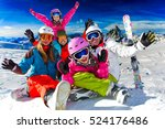 skiing  winter  snow  sun and... | Shutterstock . vector #524176486