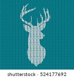 knitted background and head... | Shutterstock .eps vector #524177692