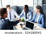 job applicant having interview. ... | Shutterstock . vector #524180092