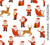 santa claus christmas seamless... | Shutterstock .eps vector #524182246