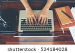 young business woman working on ... | Shutterstock . vector #524184028