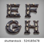 3d render vintage steam punk... | Shutterstock . vector #524185678