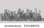white windows on city skylines  ... | Shutterstock .eps vector #524188552