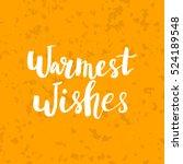 christmas card template. hand... | Shutterstock .eps vector #524189548