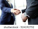 business people shaking hands ... | Shutterstock . vector #524192752