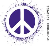 peace sign isolated on a... | Shutterstock .eps vector #52419538