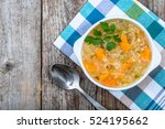 cabbage soup with vegetables ... | Shutterstock . vector #524195662