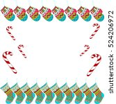 inscription merry christmas my... | Shutterstock .eps vector #524206972
