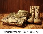 Set of military uniform on...