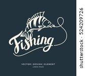 Fishing. Modern Hand Drawn...