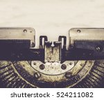 close up of typewriter vintage... | Shutterstock . vector #524211082