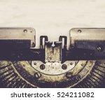 Close Up Of Typewriter Vintage...