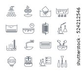 set of thin line icons... | Shutterstock .eps vector #524212546