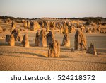 pinnacles desert  nambung... | Shutterstock . vector #524218372