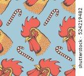 vector rooster bird...   Shutterstock .eps vector #524219482