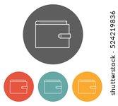 wallet icon | Shutterstock .eps vector #524219836