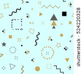 trendy geometric elements card. ... | Shutterstock .eps vector #524220328