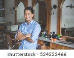 confident barber expert. young... | Shutterstock . vector #524223466