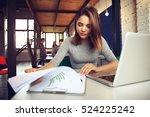 portrait of a serious... | Shutterstock . vector #524225242