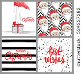 super set with merry christmas... | Shutterstock .eps vector #524227282