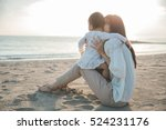 beautiful mother and baby... | Shutterstock . vector #524231176