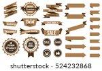 set of brown ribbons   badges... | Shutterstock .eps vector #524232868