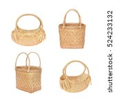 bamboo basket and dry water... | Shutterstock . vector #524233132
