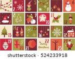 advent calendar. christmas...   Shutterstock .eps vector #524233918