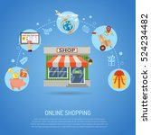 online shopping concept... | Shutterstock .eps vector #524234482