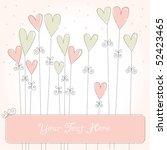 wedding invitation panel | Shutterstock .eps vector #52423465