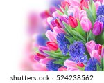 Bunch Of  Blue Hyacinth And ...