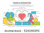 donation  charity and ... | Shutterstock .eps vector #524240392