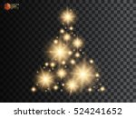 christmas tree made  golden... | Shutterstock .eps vector #524241652