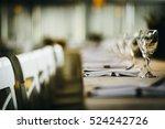 table setting.green background.    Shutterstock . vector #524242726