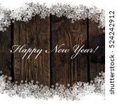happy new year  greeting on... | Shutterstock .eps vector #524242912