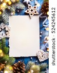 christmas holidays composition... | Shutterstock . vector #524245612