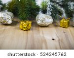 Silver Snowflakes And Fir...