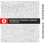 business and finance icon set... | Shutterstock .eps vector #524246368