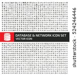 database and network icon set... | Shutterstock .eps vector #524246446