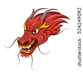 chinese dragon vector... | Shutterstock .eps vector #524249092