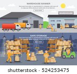 warehouse horizontal banners... | Shutterstock .eps vector #524253475
