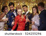 new years party is being... | Shutterstock . vector #524255296
