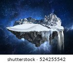 magic winter island with... | Shutterstock . vector #524255542