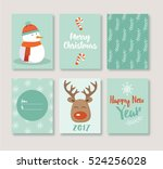 merry christmas greeting cards... | Shutterstock .eps vector #524256028