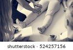 health wellness massage... | Shutterstock . vector #524257156