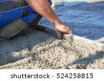 worker screeding cement floor... | Shutterstock . vector #524258815