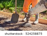 concrete pouring during... | Shutterstock . vector #524258875