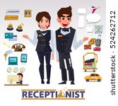 receptionist character design... | Shutterstock .eps vector #524262712