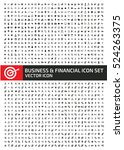 business and finance icon set... | Shutterstock .eps vector #524263375